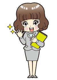 有料アダルト動画サイトの詳細・入会体験レビューの一覧ページを案内する女性